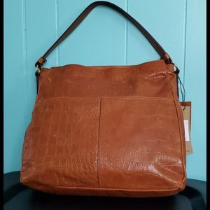 Margot New York Brody Hobo Croc Handbag